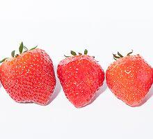 strawberrys by Michael Hollinshead