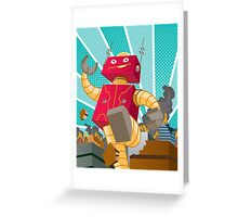 Red Robot Greeting Card