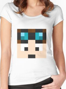 TheDiamondMinecart Minecraft skin Women's Fitted Scoop T-Shirt