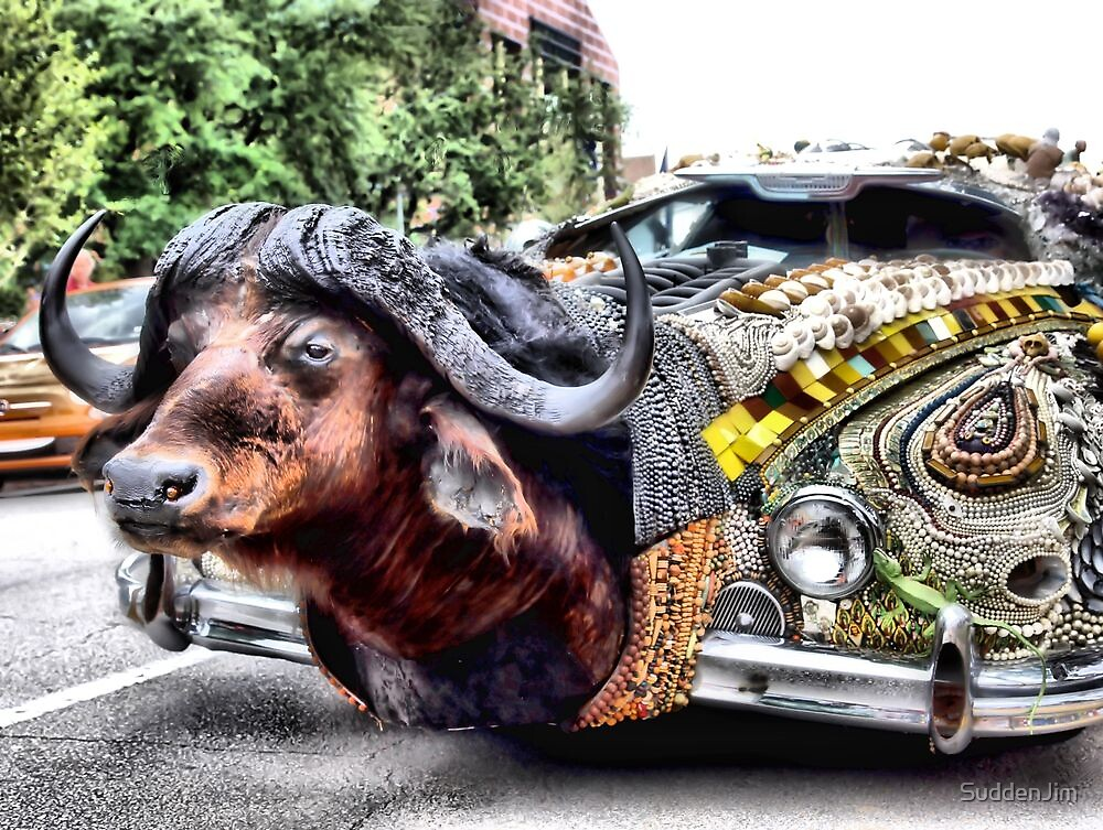 Water Buffalo Car by SuddenJim