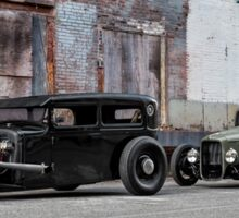 1930 Ford Model A & 1933 Ford Coupe Sticker