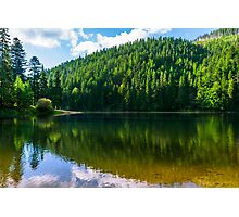 clear lake in the mountains on summer weather Photographic Print