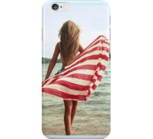 woman with flag  iPhone Case/Skin