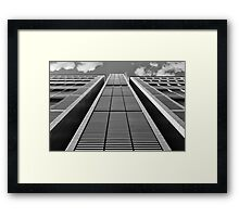 Geometry and contrast Framed Print