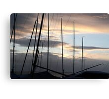 Through The Masts Canvas Print
