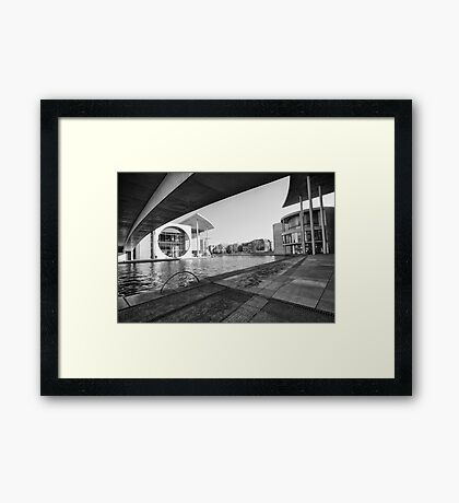 Contrasts in modern architecture Framed Print