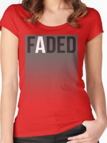 Faded Tee Women's Fitted Scoop T-Shirt