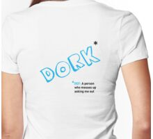 Date T Shirt - Dork with black definition Womens Fitted T-Shirt