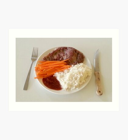 Steak With Spicy Sauce Art Print