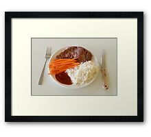 Steak With Spicy Sauce Framed Print