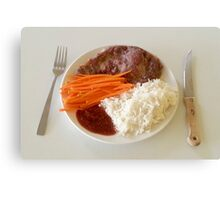 Steak With Spicy Sauce Canvas Print