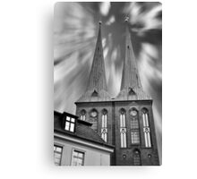 Power comes from heaven... Canvas Print