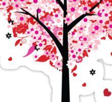 Floral Heart Tree Sticker