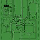 Alcohol By Volume Design (Black) by uncmfrtbleyeti