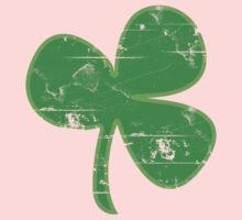 Vintage Clover St Patricks Day Kids Tee