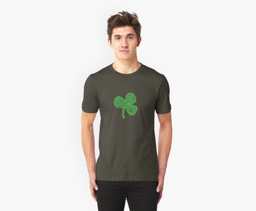 Vintage Clover St Patricks Day by CarbonClothing
