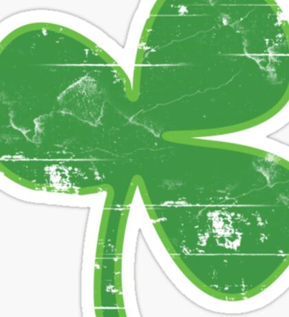 Vintage Clover St Patricks Day Sticker