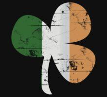 Vintage Irish Flag Clover St Patricks Day Baby Tee