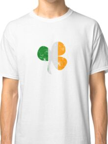 Vintage Irish Flag Clover St Patricks Day Classic T-Shirt