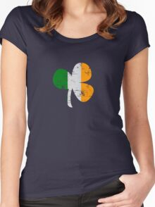 Vintage Irish Flag Clover St Patricks Day Women's Fitted Scoop T-Shirt