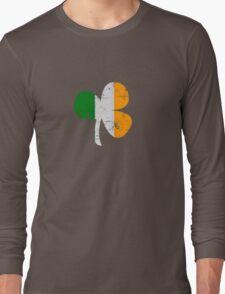 Vintage Irish Flag Clover St Patricks Day Long Sleeve T-Shirt