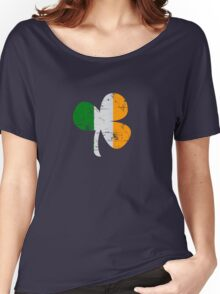 Vintage Irish Flag Clover St Patricks Day Women's Relaxed Fit T-Shirt