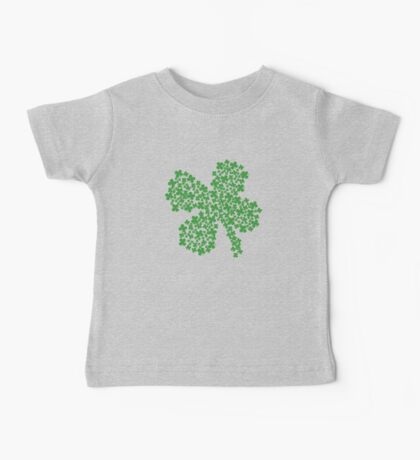 Clover Made Of Clovers St Patricks Day Baby Tee