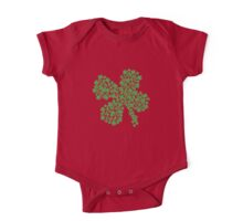 Clover Made Of Clovers St Patricks Day One Piece - Short Sleeve