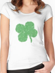 Clover Skulls St Patricks Day Women's Fitted Scoop T-Shirt