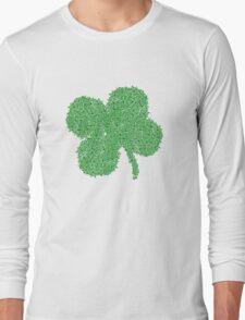Clover Skulls St Patricks Day Long Sleeve T-Shirt