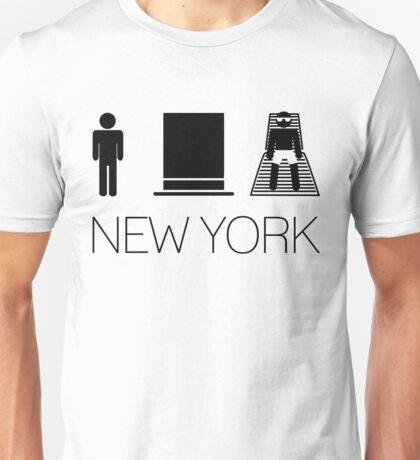 Man hat tan Tee - New York Black Lettering Unisex T-Shirt