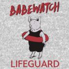 Babewatch - Lifeguard Parody Design - Piggy Lifeguard - Bay Watch by traciv
