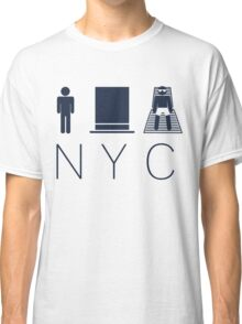Man hat tan Tee - NYC - Yankee Blue Lettering Classic T-Shirt