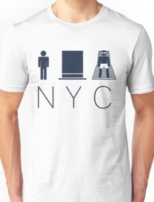 Man hat tan Tee - NYC - Yankee Blue Lettering Unisex T-Shirt