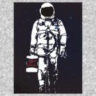 Badass Astronaut - Black visor by Sieell
