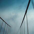 Golden Gate Bridge in Fog by Tama Blough