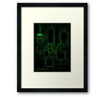 Alcohol By Volume Design (Green) Framed Print