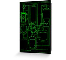 Alcohol By Volume Design (Green) Greeting Card