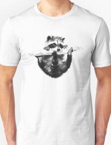 Hanging Raccoon Unisex T-Shirt