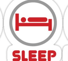 Eat Sleep Bacon Sticker