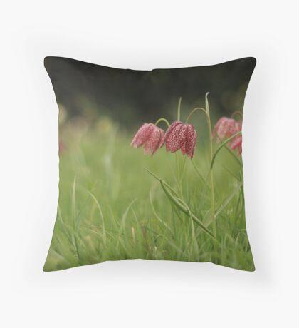 Wild flower meadow at Downton Abbey Throw Pillow