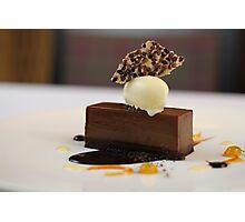 Did someone drop the chocolate bomb? Photographic Print