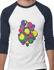 Circles of colour! Men's Baseball ¾ T-Shirt