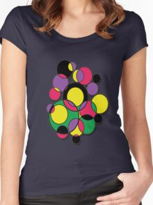 Circles of colour! Women's Fitted Scoop T-Shirt