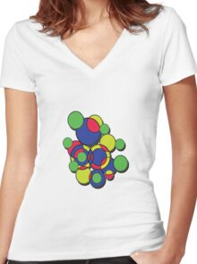 Circles of colour! Without the 'male' symbol. Women's Fitted V-Neck T-Shirt