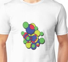 Circles of colour! Without the 'male' symbol. Unisex T-Shirt