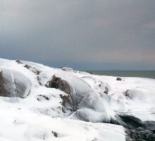 Peggys Cove Lighthouse in the Snow - Nova Scotia Canada Sticker