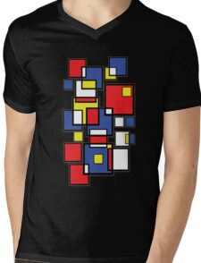 An abstract of squares - shadow Mens V-Neck T-Shirt
