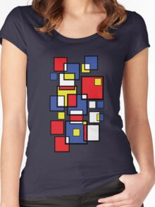 Abstract squares! Women's Fitted Scoop T-Shirt