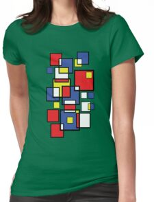 Abstract squares! Womens Fitted T-Shirt